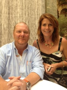 Chef Mario Batali, Cuisineist Editor-In-Chief Elaine Harris