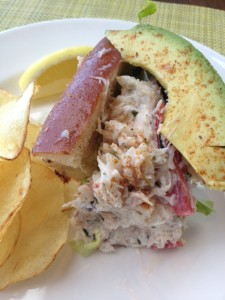 Dungeness  Crab Roll with Avacado