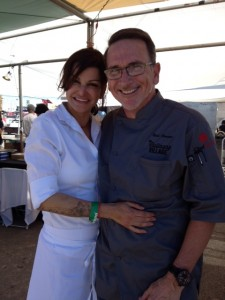 Chefs Carla Pellegrino and Rick Moonen