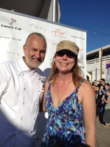 Chef Hubert Keller , Cuisineist Editor-In-Chief Elaine Harris