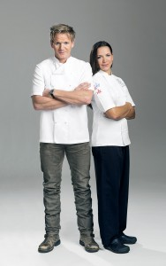 Chef Gordon Ramsay and Chef Christina Wilson